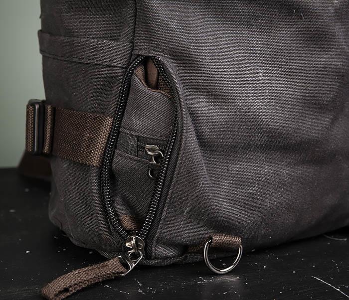 BAG479-1 Большой рюкзак трансформер из текстиля фото 14