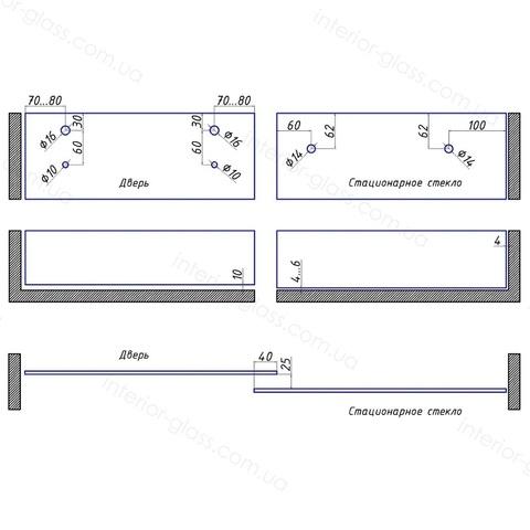 Комплект раздвижной душевой системы ST-301-2 SSS