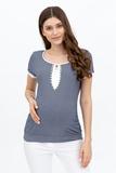 Блузка для беременных 09612 синие в полоску
