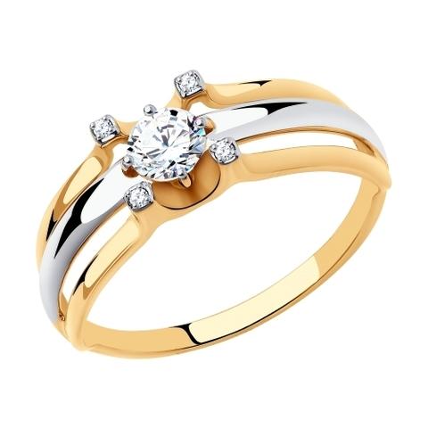 018524 - Кольцо из золота с фианитами