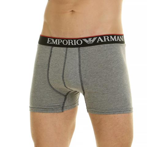 Мужские трусы боксеры серые меланжевые Emporio Armani 44905