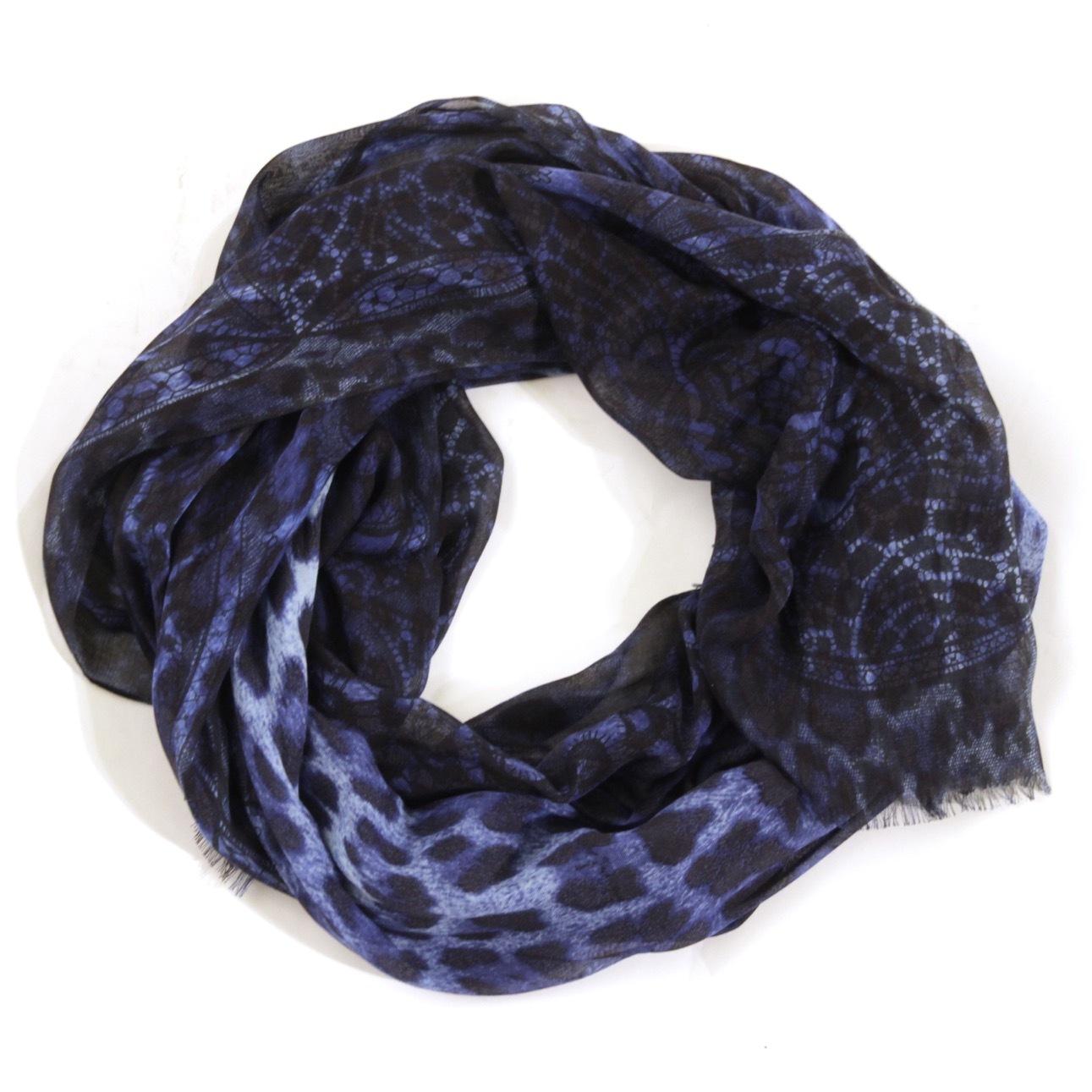 Платок. Цвет синий/темно-синий ALEXANDER MCQUEEN