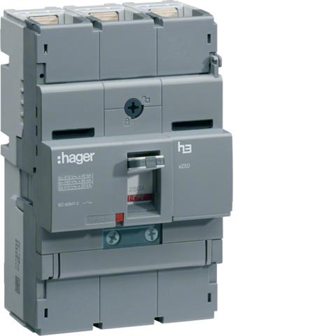 Автоматический выключатель, x250, TM рег. Im=13..6In, 3P 40kA 125-80A, 440В АС