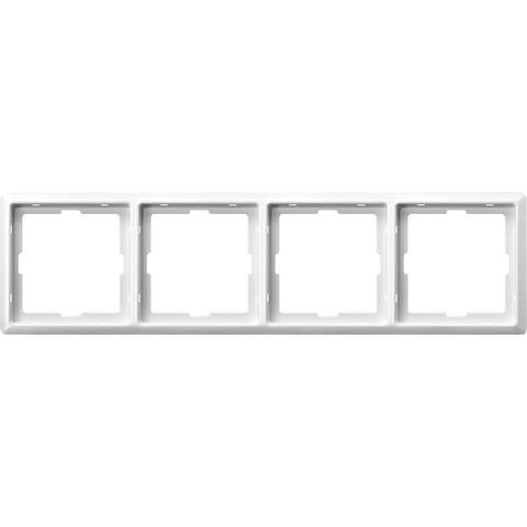 Рамка на 4 поста. Цвет Полярный белый. Merten. Artec System Design. MTN481419