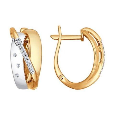 1021100 - Серьги из золота с бриллиантами