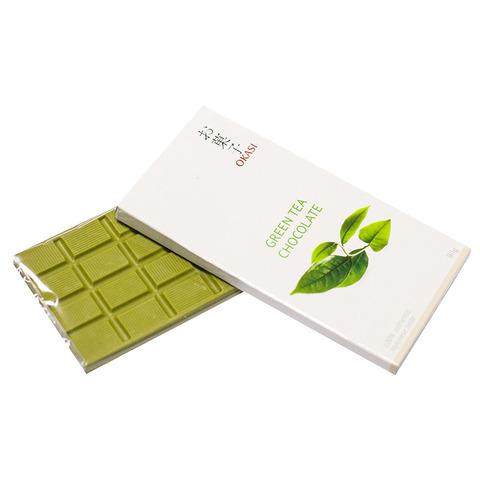 Шоколад Okasi с зеленым чаем Матча 80 гр