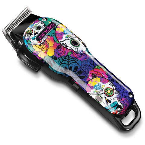 Машинка для стрижки волос Andis LCL US Pro Li, li ion Sugar Skull, 0,5-2.4мм, аккум/сетевая, 9 насад