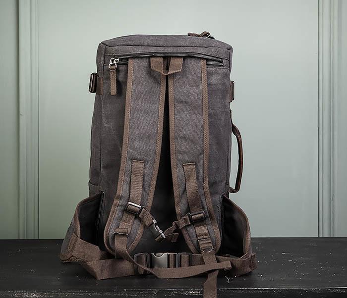 BAG479-1 Большой рюкзак трансформер из текстиля фото 17