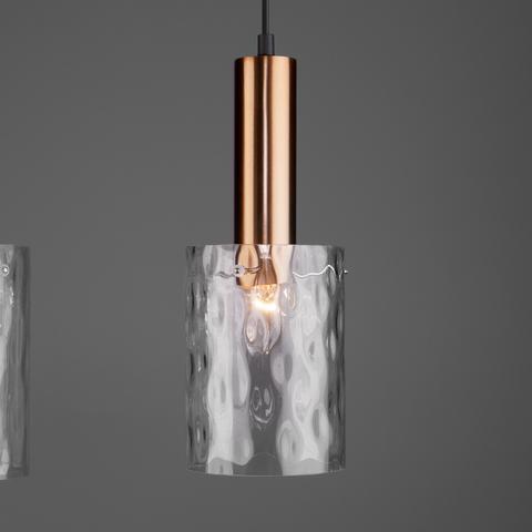 Подвесной светильник 50177/3 черный/бронза