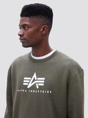 Свитшот Alpha Industries Basic Logo Sweatshirt (Зеленый)