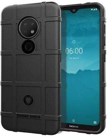 Чехол Nokia 6.2 (7.2) цвет Black (черный), серия Armor, Caseport