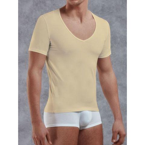 Мужская футболка бежевая Doreanse 2820