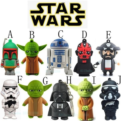 Star War USB 2.0 Flash Memory Drive 16 GB