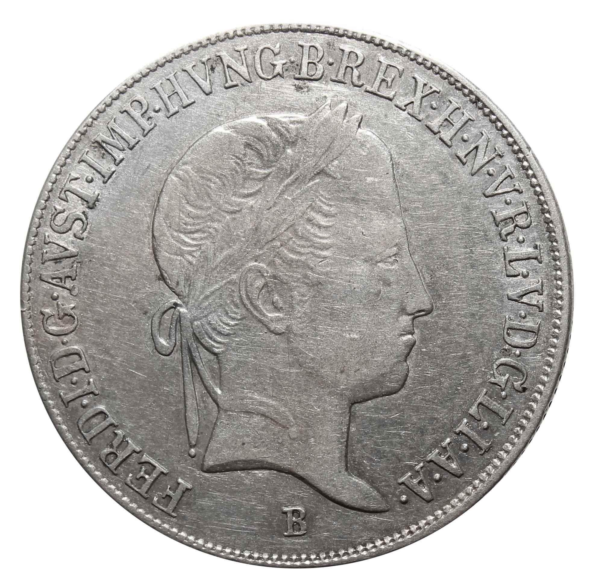 20 крейцеров. Фердинанд I- Святая Мария. В. Венгрия. 1846 год. Серебро. VF-XF