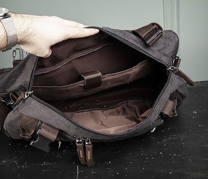 BAG479-1 Большой рюкзак трансформер из текстиля фото 18