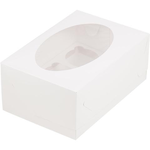 Коробка для 6 капкейков(белая)
