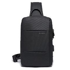 Рюкзак на одной лямке Bange BG77107 чёрный