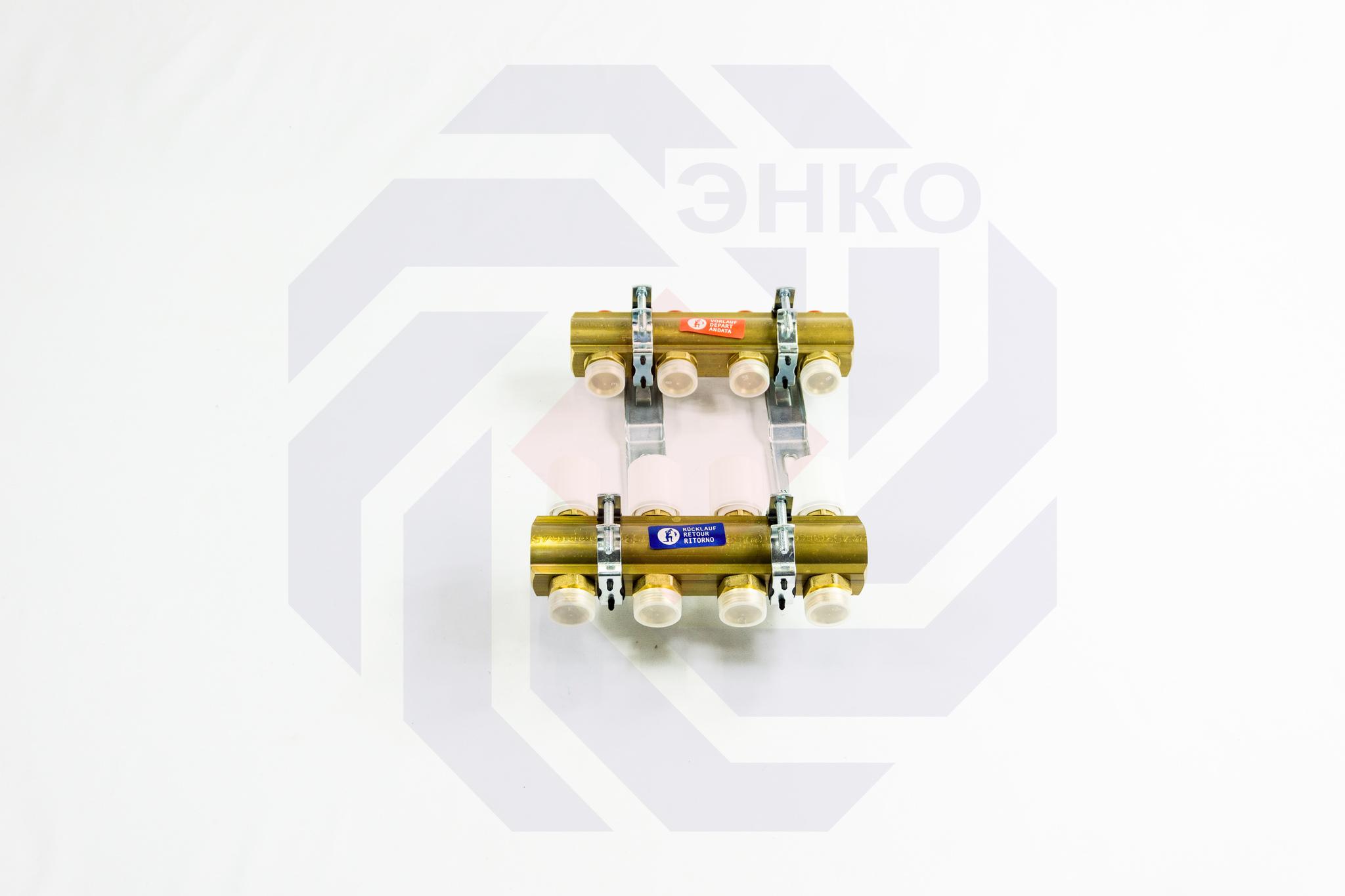 Комплект коллекторов без расходомеров GIACOMINI R553E 4 контура
