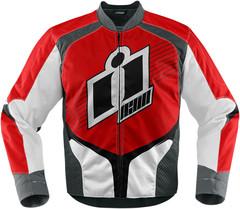Мотокуртка - ICON OVERLORD (текстиль, красная)