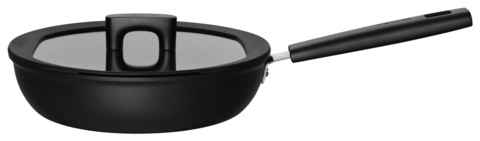 Сотейник Fiskars Hard Face Optiheat 2.8л. d=26см (с крышкой) черный (1052238)