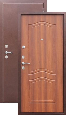 Дверь входная Сибирский стандарт Гарда 1512, 2 замка, 1,5 мм  металл, (медь антик+дуб рустикальный)
