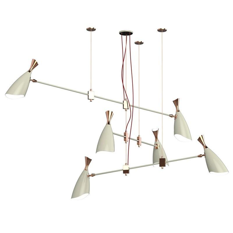 Подвесной светильник копия Duke by Delightfull (6 плафонов, белый)