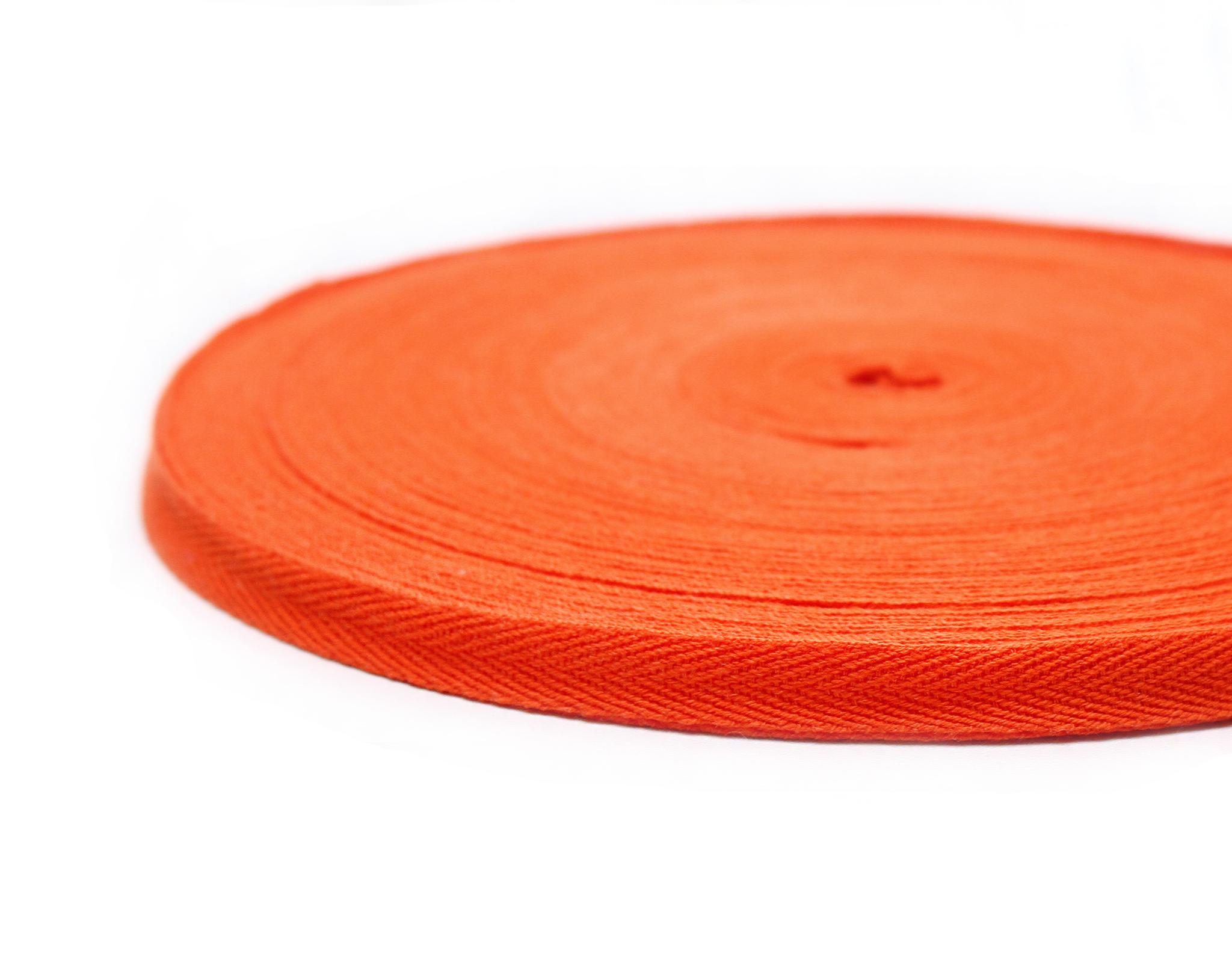 Лента киперная,1 см,оранжевая