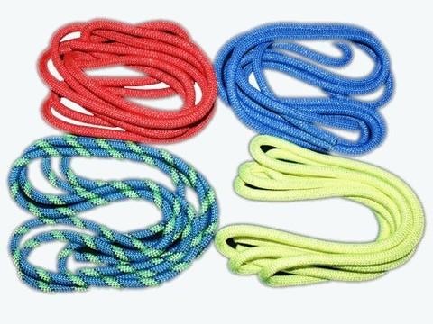Скакалка гимнастическая утяжеленная с люрексом, цветная ткань. Длина 3 метра. (цвета в ассортименте) :(Р):