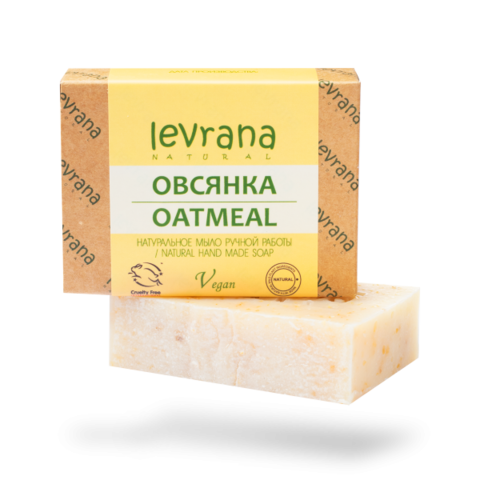Levrana Натуральное мыло ручной работы Овсянка, 100гр
