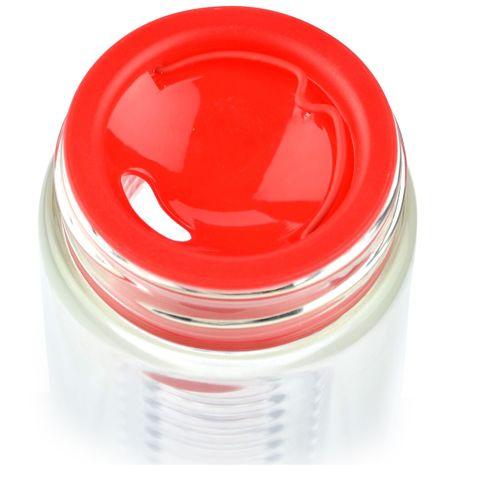 Бутылка Asobu Flavour it (0,6 литра), красная с серебристым