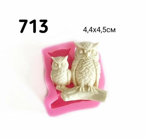 0713 Молд силиконовый. Сова с совенком