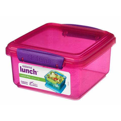 """Контейнер пищевой Sistema """"Lunch"""" 1,2 л, цвет Розовый"""