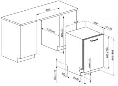 Посудомоечная машина Smeg STA4505IN