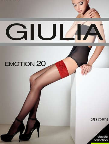 Giulia EMOTION 20 aut. чулки nero/rosso