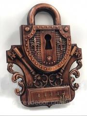 Силиконовый молд № 385 Замок  с ключами