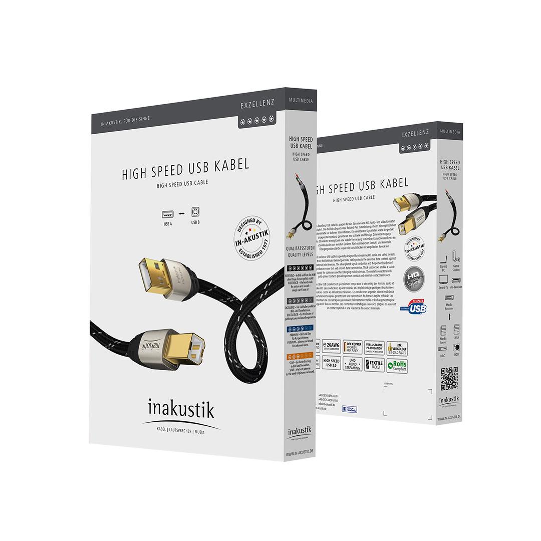 Inakustik Exzellenz High Speed USB 2.0, 1.0 m, 00670001