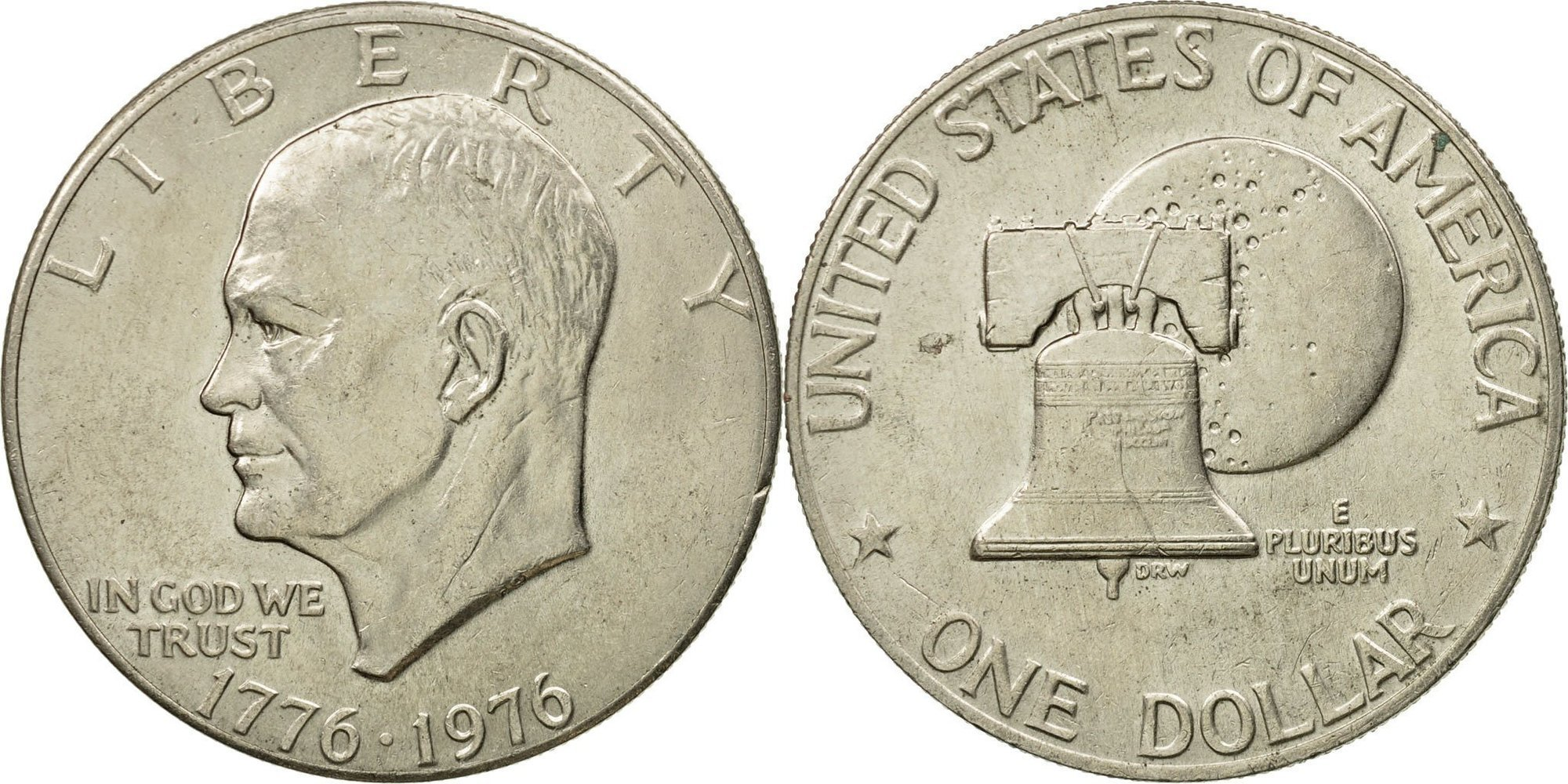 1 доллар 1976 год, Эйзенхауэр, Колокол Свободы (D). UNC