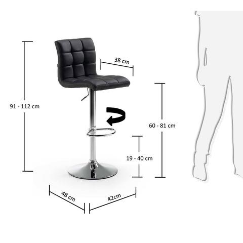 Барный стул Lodi черный