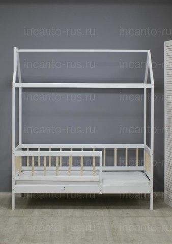 Кроватка-домик  Incanto  «Скандинавия» цвет белый с натуральными ламелями