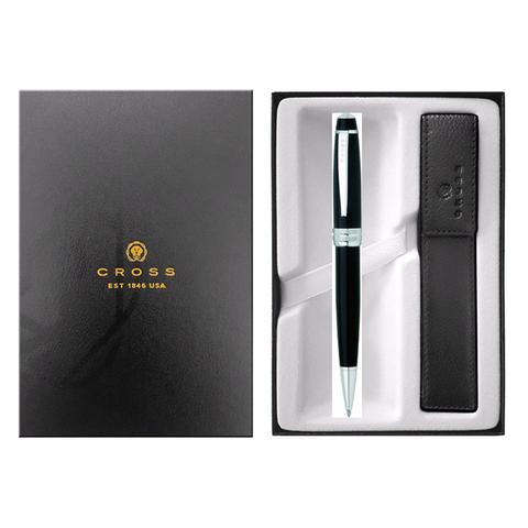 Набор подарочный Cross Bailey  (AT0452-7/471) Black Lacquer шариковая ручка + чехол