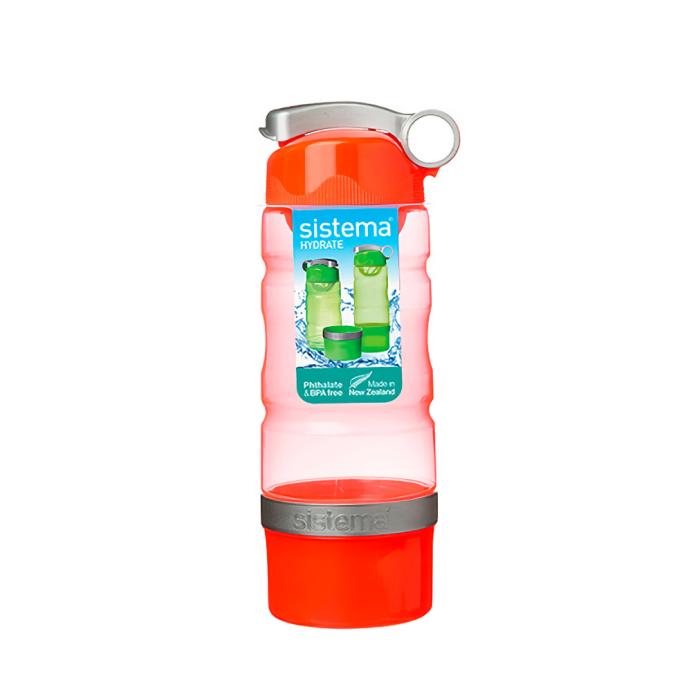 """Бутылка для воды Sistema """"Hydrate"""" 615 мл, цвет Красный"""