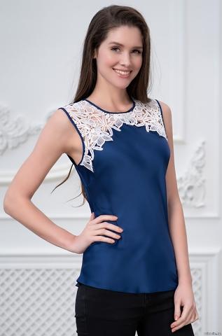 Блуза-Топ женский Mia-Amore Milan Милан 8321 синий