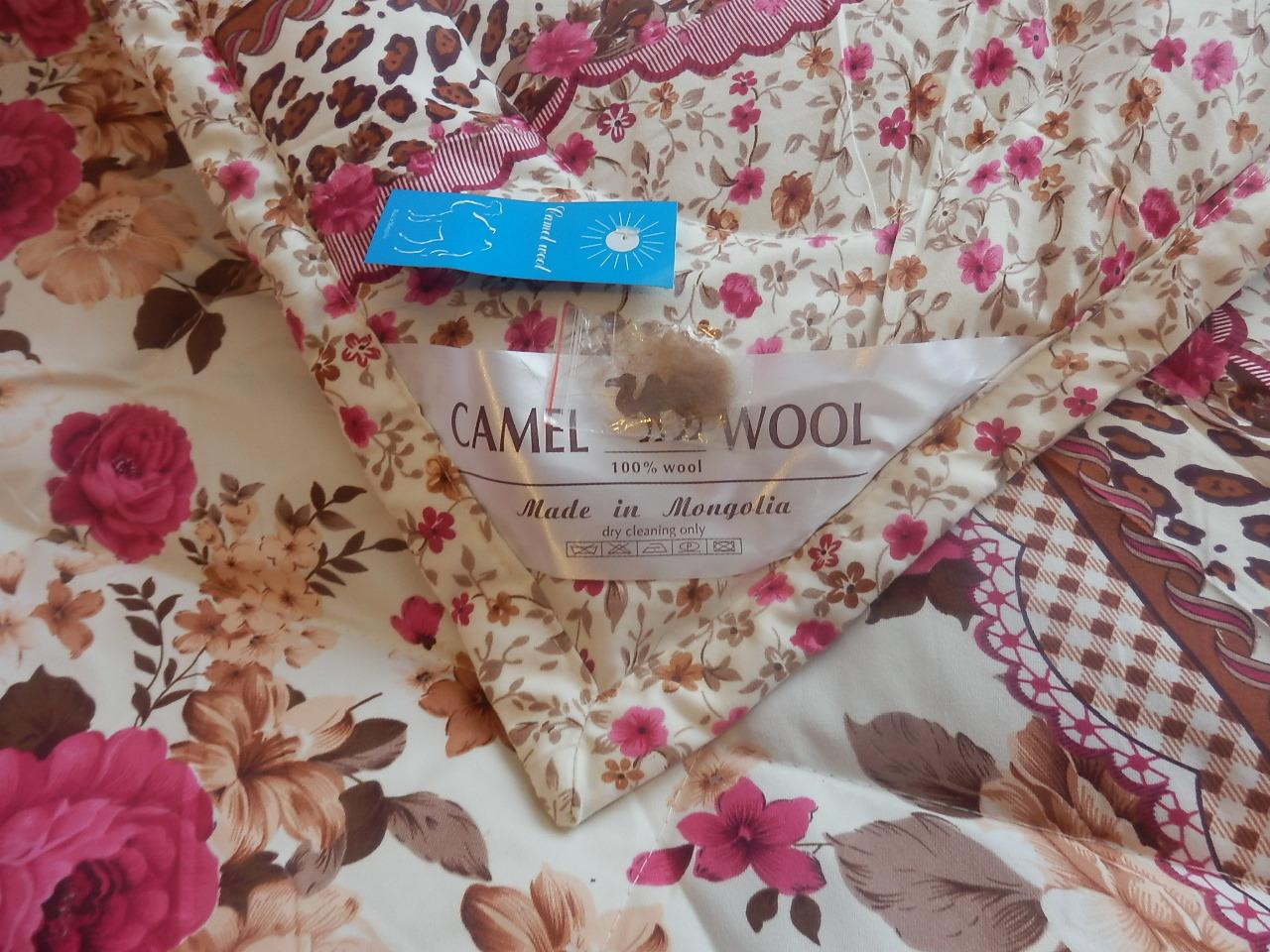 Одеяло стеганое из верблюжьей шерсти 160х200 фото