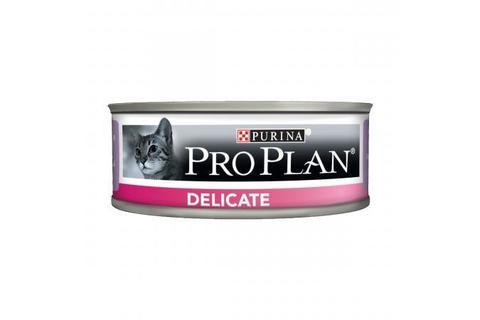 Консервы Purina Pro Plan Delicate для кошек с чувствительным пищеварением, паштет с индейкой,  85 г