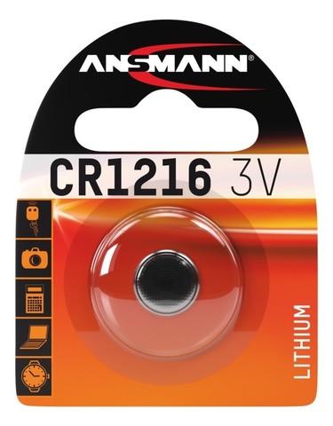 Батарейка литиевая CR1216 ANSMANN 3V