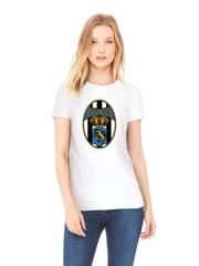 Футболка с принтом FC Juventus (ФК Ювентус) белая w003