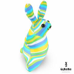 Подушка-игрушка антистресс Gekoko «Зая Полосатый зеленый» 3