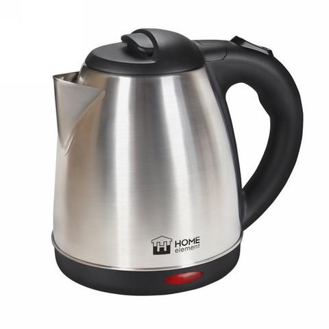 Чайник металлический HOME ELEMENT HE-KT182 {new} черный/сталь