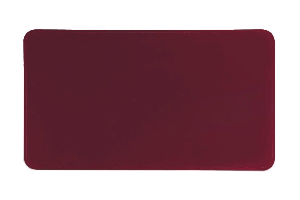 кожаный бордовый бювар на стол