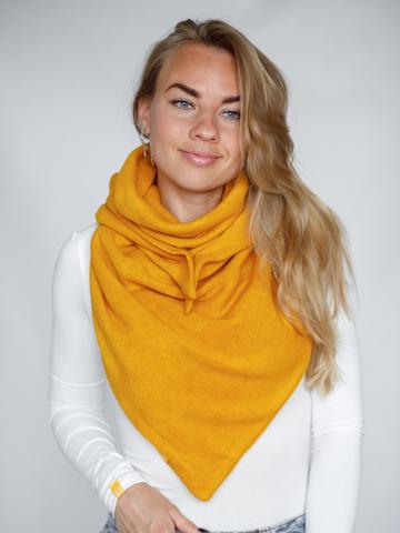 Косынка однотонная шерстяная жёлтая